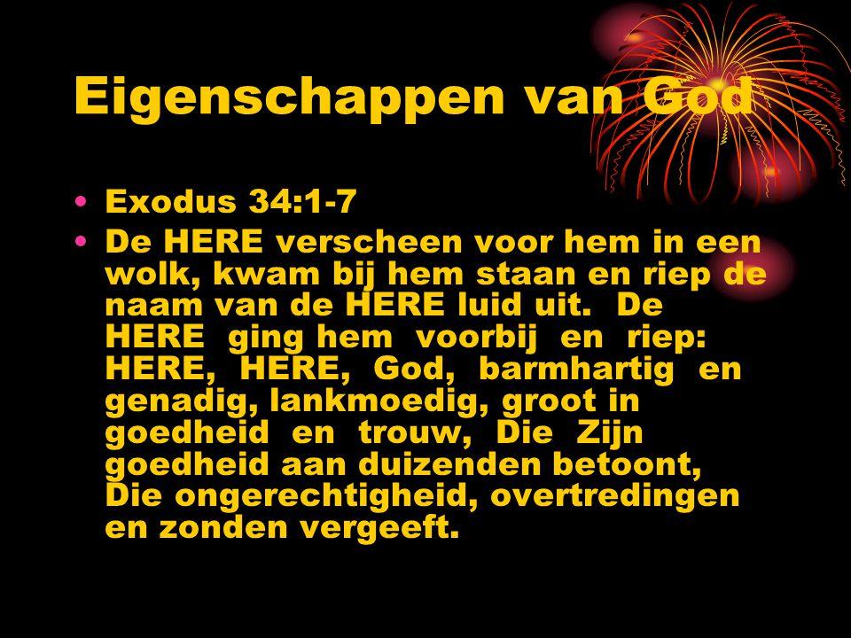 Eigenschappen van God Exodus 34:1-7