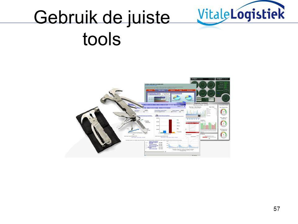 Gebruik de juiste tools