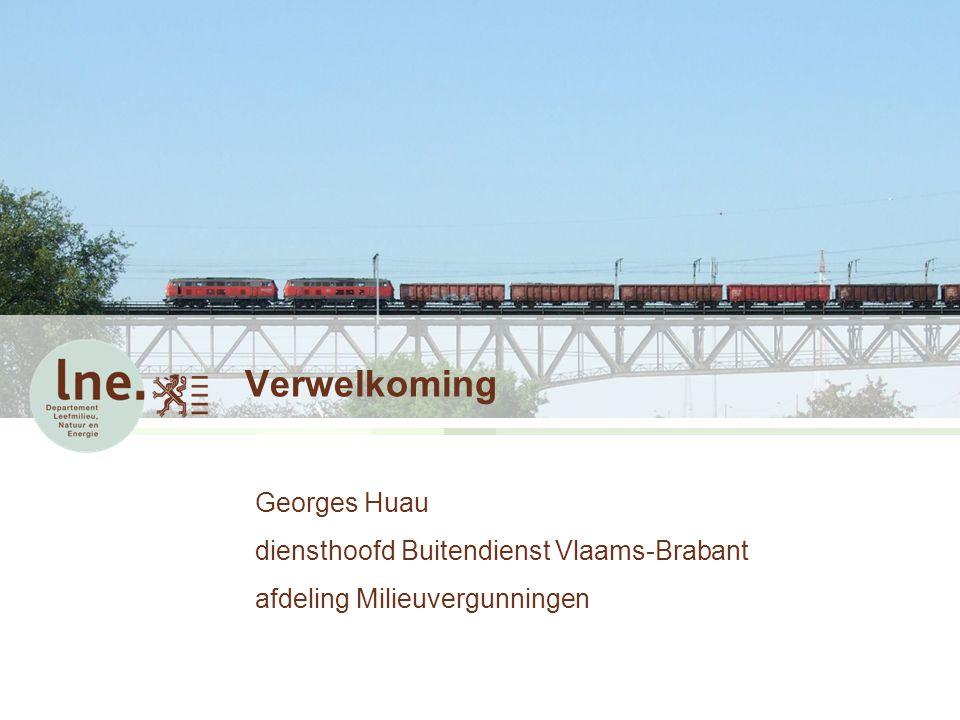 Verwelkoming Georges Huau diensthoofd Buitendienst Vlaams-Brabant