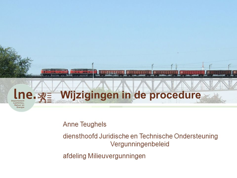 Wijzigingen in de procedure