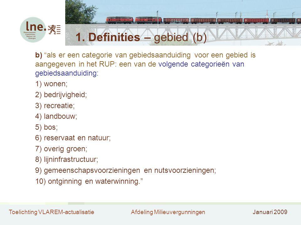 1. Definities – gebied (b)