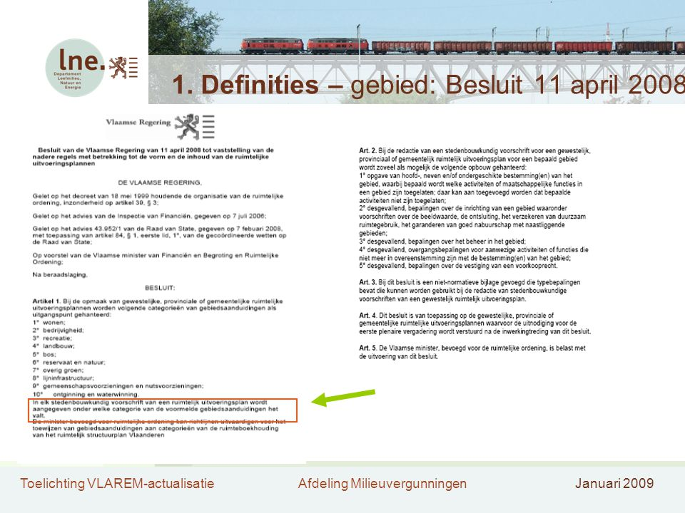 1. Definities – gebied: Besluit 11 april 2008