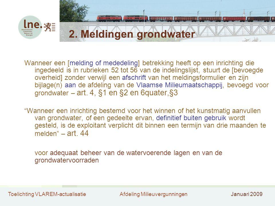 2. Meldingen grondwater