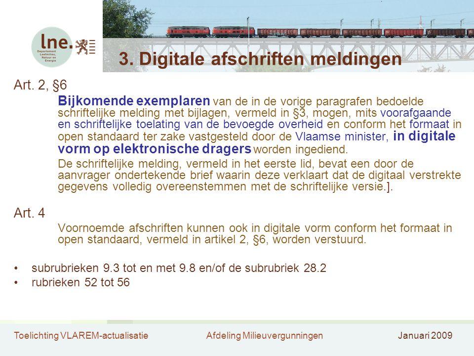 3. Digitale afschriften meldingen