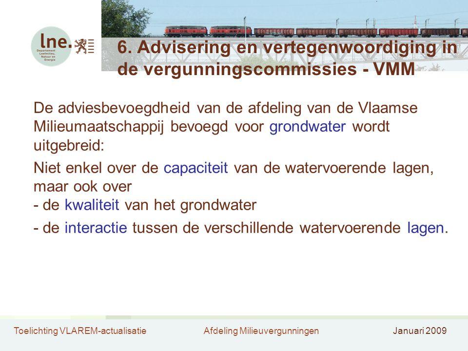 6. Advisering en vertegenwoordiging in de vergunningscommissies - VMM