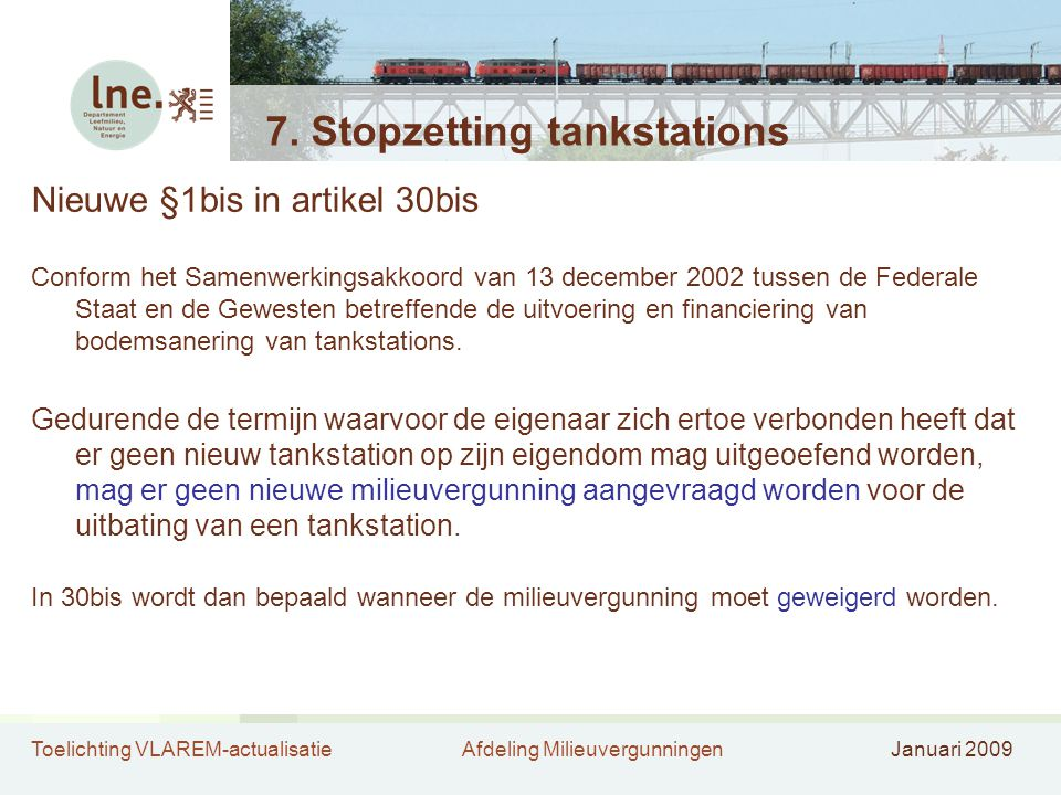 7. Stopzetting tankstations