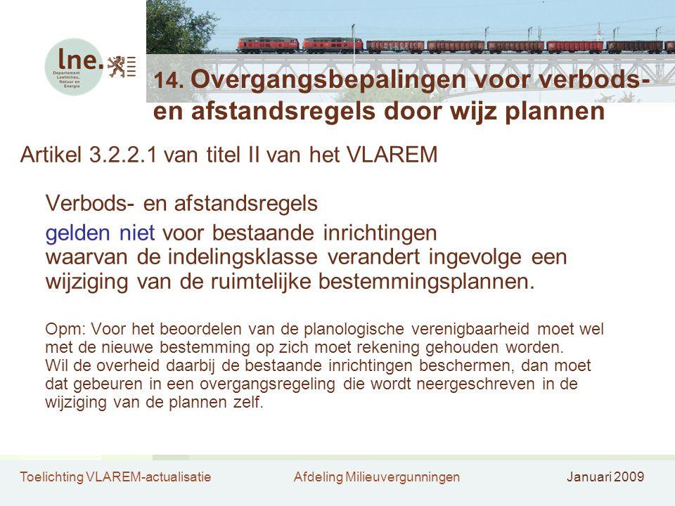 Artikel 3.2.2.1 van titel II van het VLAREM Verbods- en afstandsregels