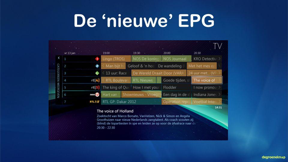 De 'nieuwe' EPG