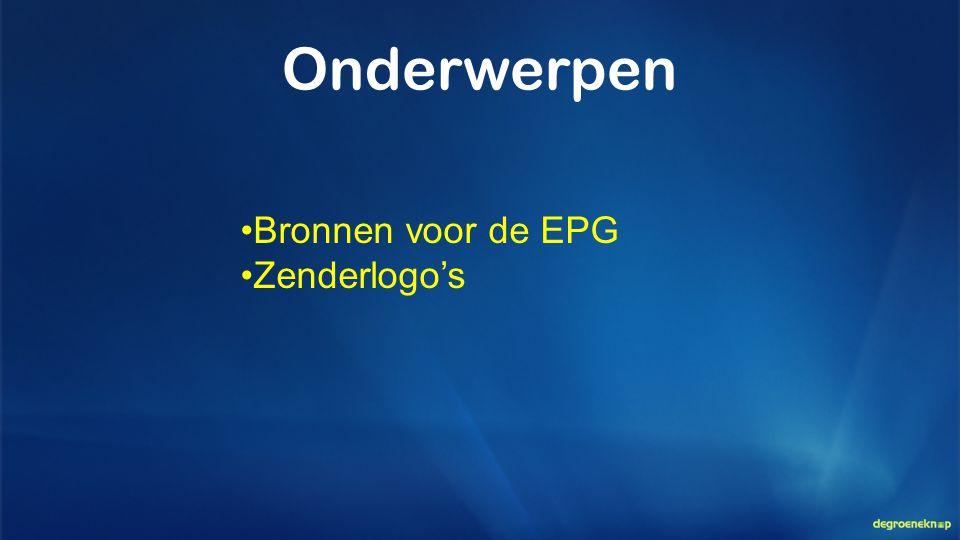 Onderwerpen Bronnen voor de EPG Zenderlogo's