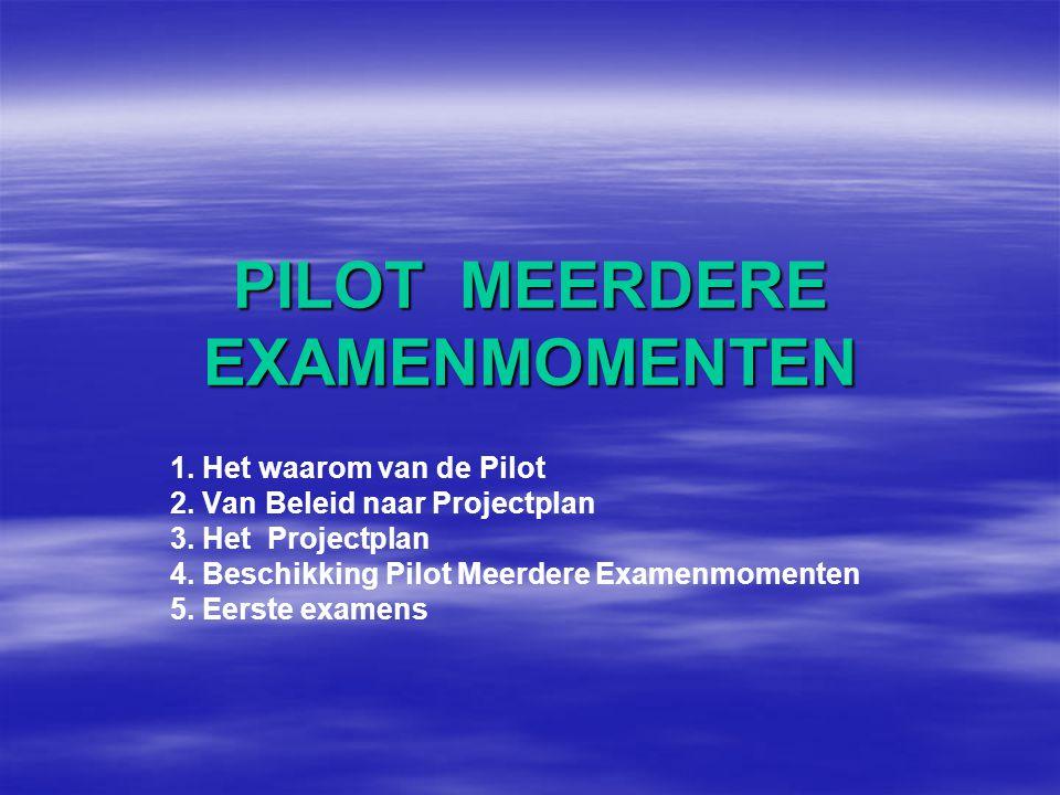 PILOT MEERDERE EXAMENMOMENTEN