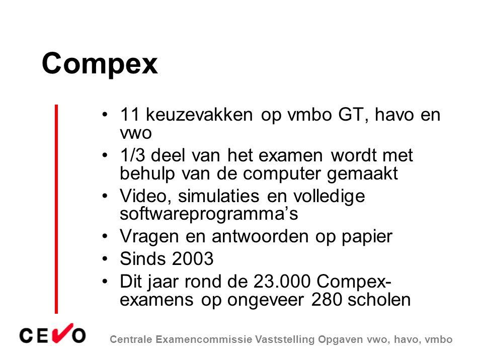 Compex 11 keuzevakken op vmbo GT, havo en vwo
