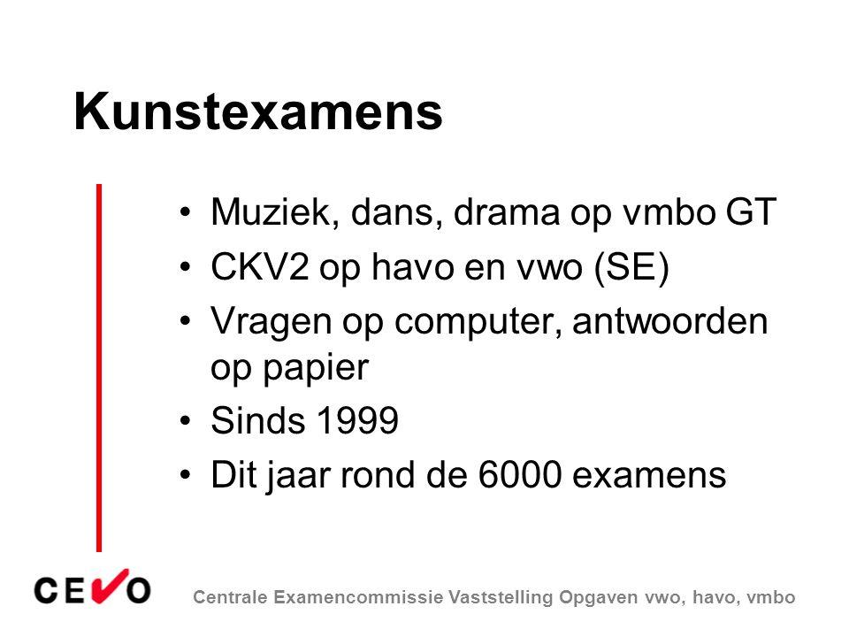 Kunstexamens Muziek, dans, drama op vmbo GT CKV2 op havo en vwo (SE)