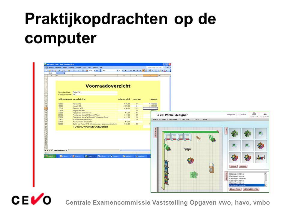 Praktijkopdrachten op de computer