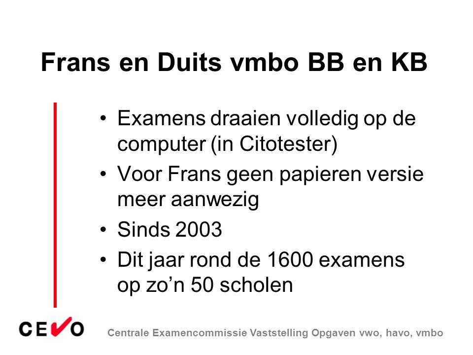 Frans en Duits vmbo BB en KB