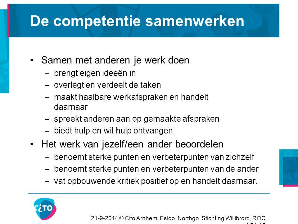 De competentie samenwerken