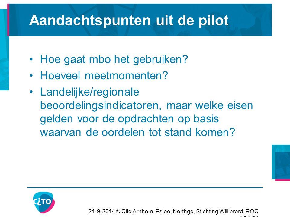 Aandachtspunten uit de pilot