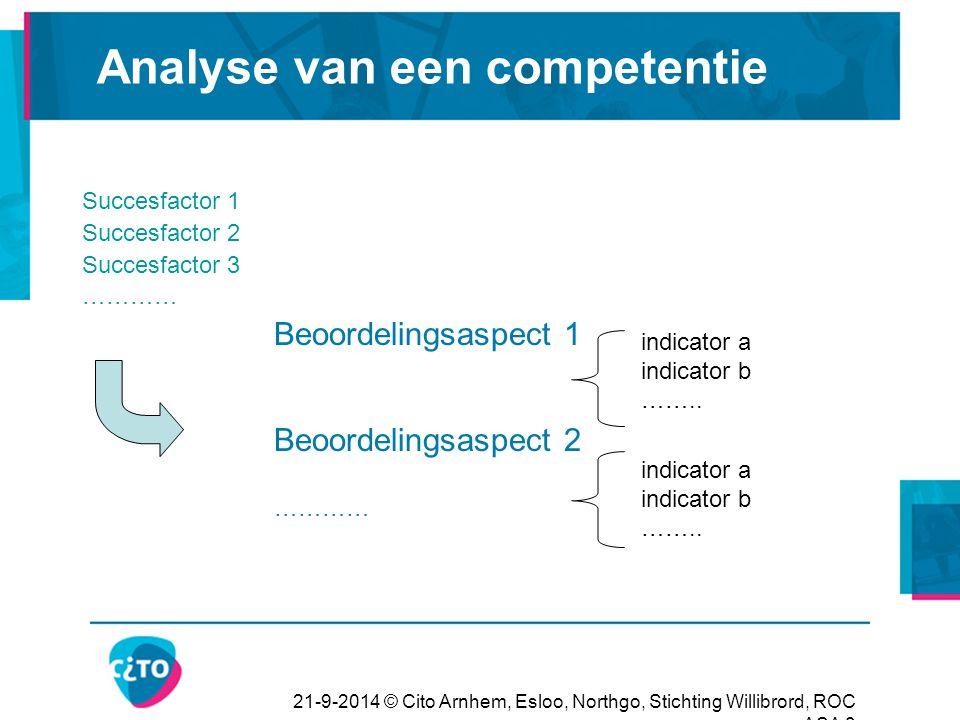 Analyse van een competentie