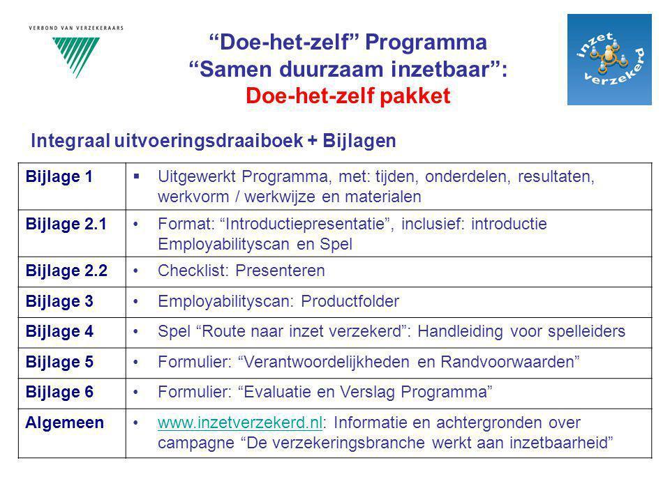 Doe-het-zelf Programma Samen duurzaam inzetbaar :