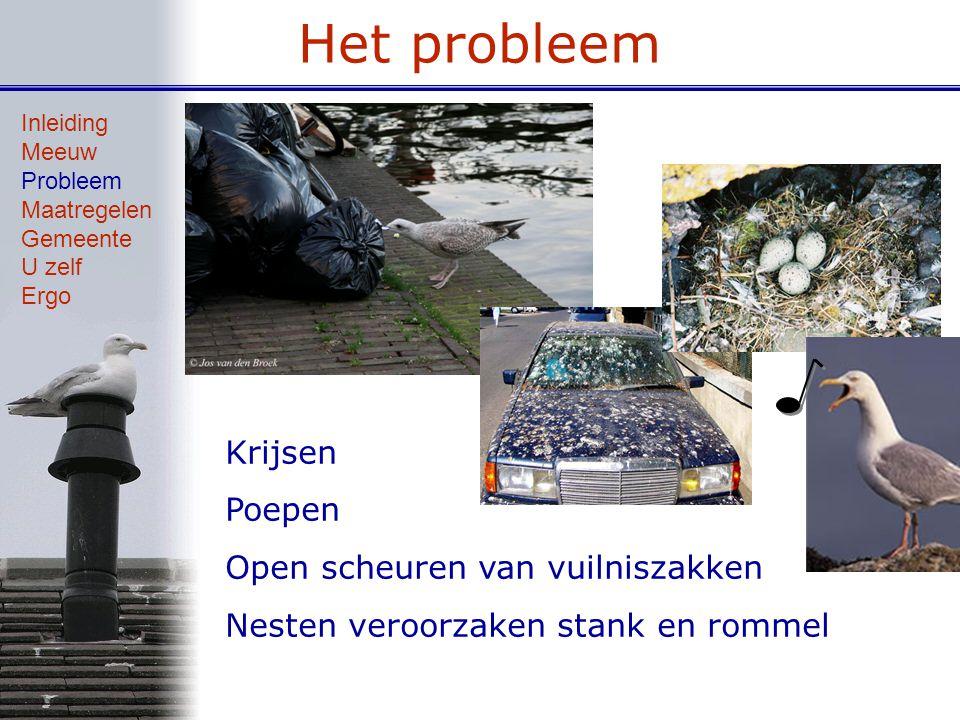 Het probleem Krijsen Poepen Open scheuren van vuilniszakken