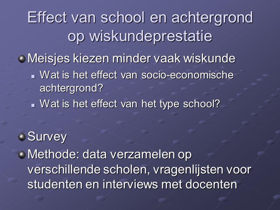 Effect van school en achtergrond op wiskundeprestatie