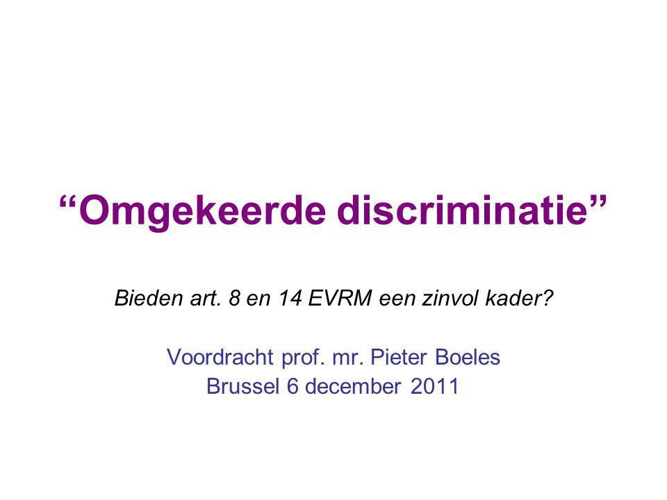 Omgekeerde discriminatie
