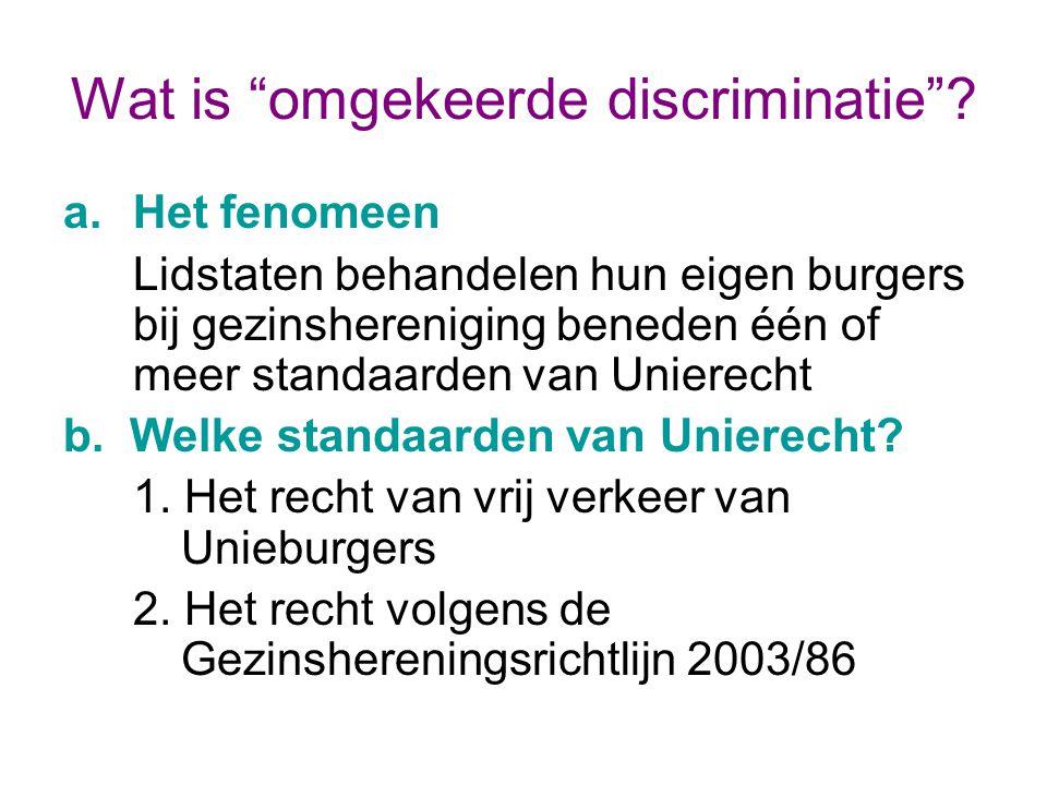 Wat is omgekeerde discriminatie
