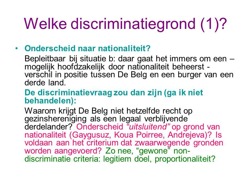 Welke discriminatiegrond (1)