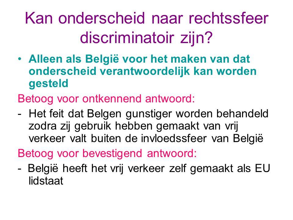Kan onderscheid naar rechtssfeer discriminatoir zijn