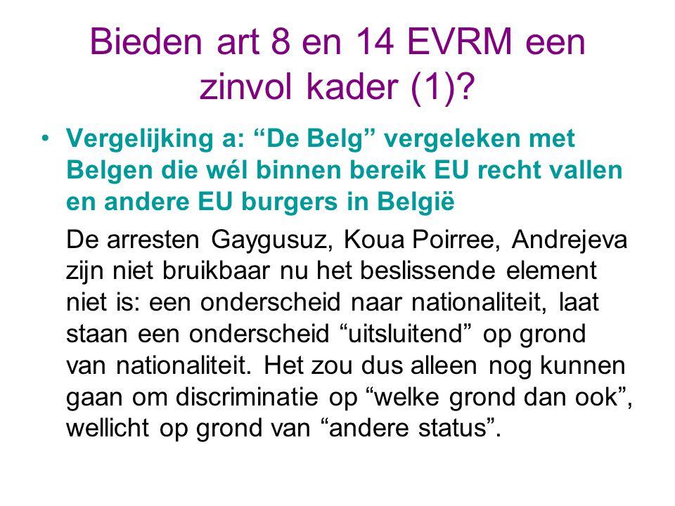 Bieden art 8 en 14 EVRM een zinvol kader (1)