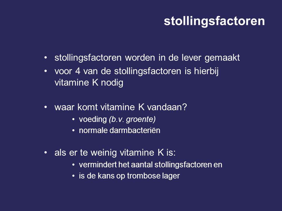 stollingsfactoren stollingsfactoren worden in de lever gemaakt