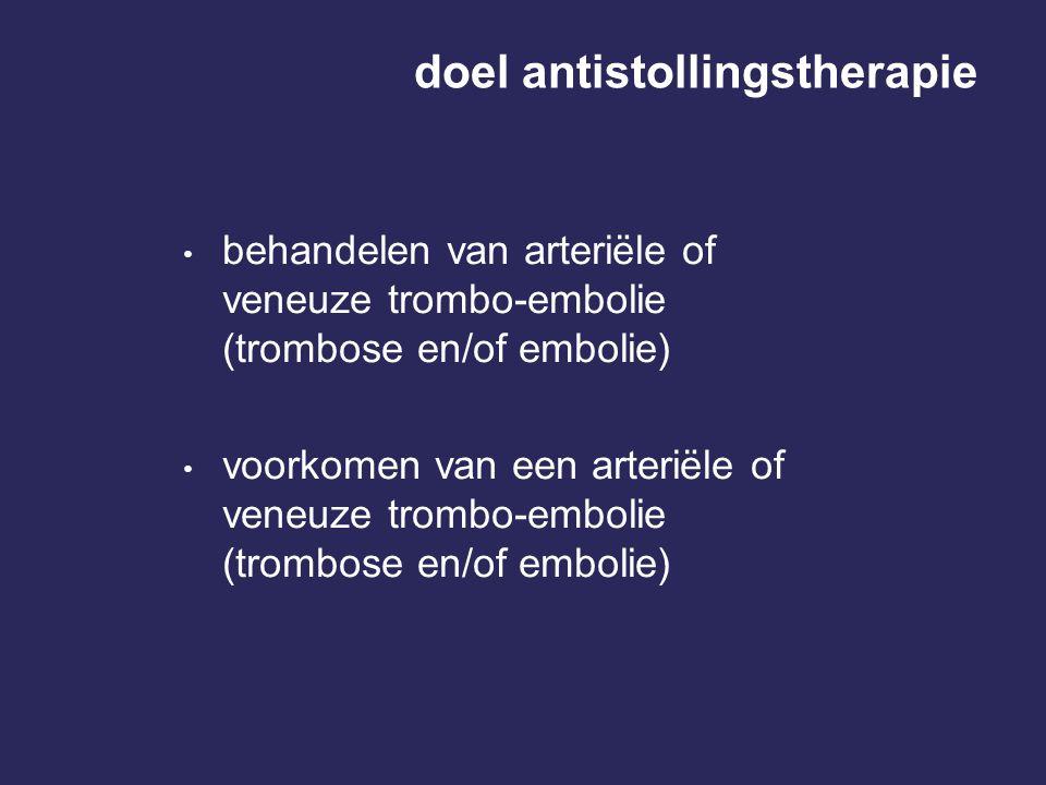 doel antistollingstherapie