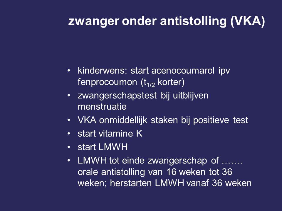 zwanger onder antistolling (VKA)