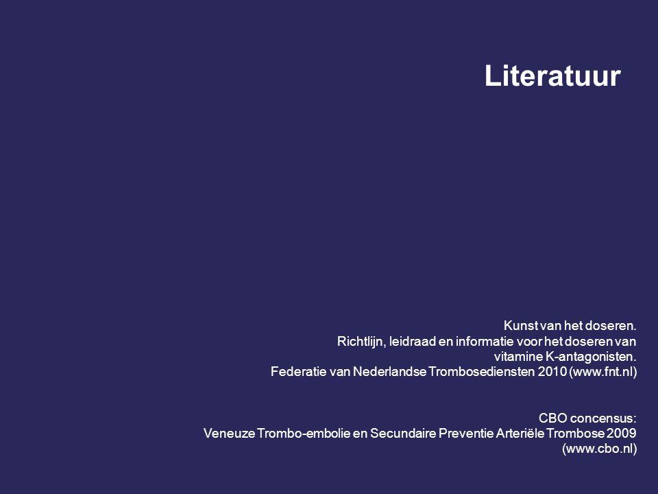 Literatuur Kunst van het doseren.