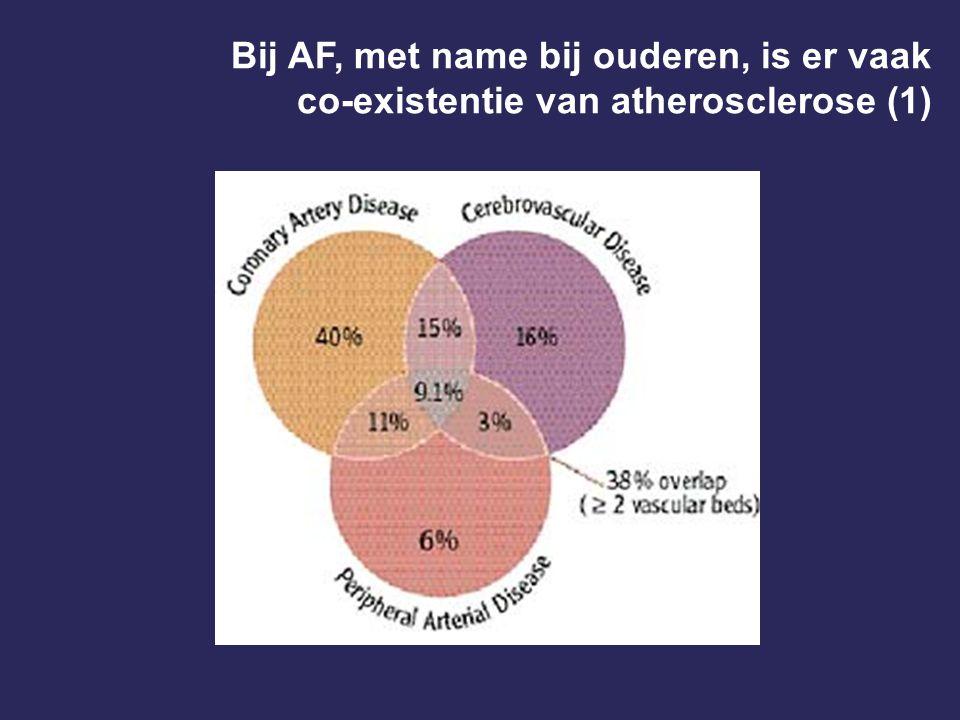 Bij AF, met name bij ouderen, is er vaak co-existentie van atherosclerose (1)