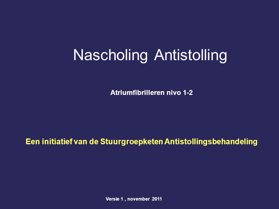 Nascholing Antistolling