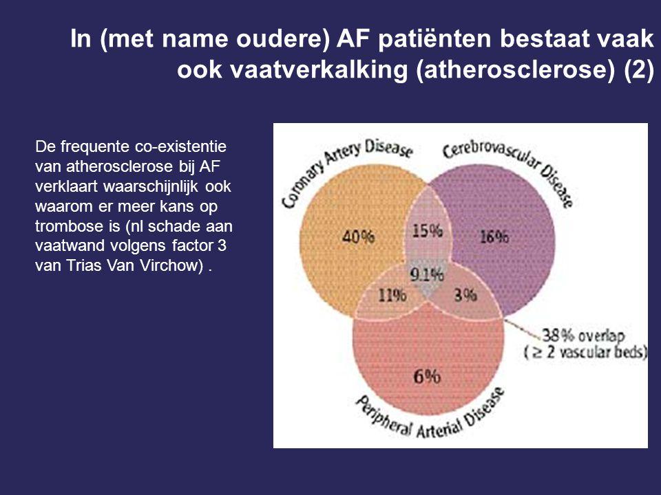 In (met name oudere) AF patiënten bestaat vaak ook vaatverkalking (atherosclerose) (2)