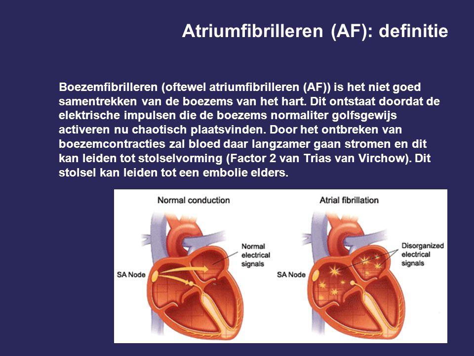 Atriumfibrilleren (AF): definitie