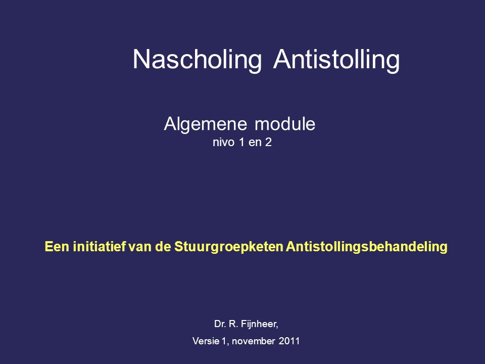 Nascholing Antistolling