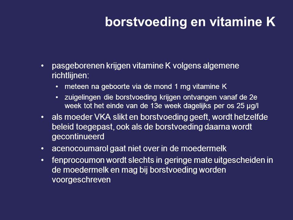 borstvoeding en vitamine K