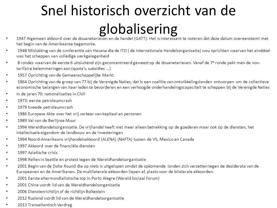 Snel historisch overzicht van de globalisering