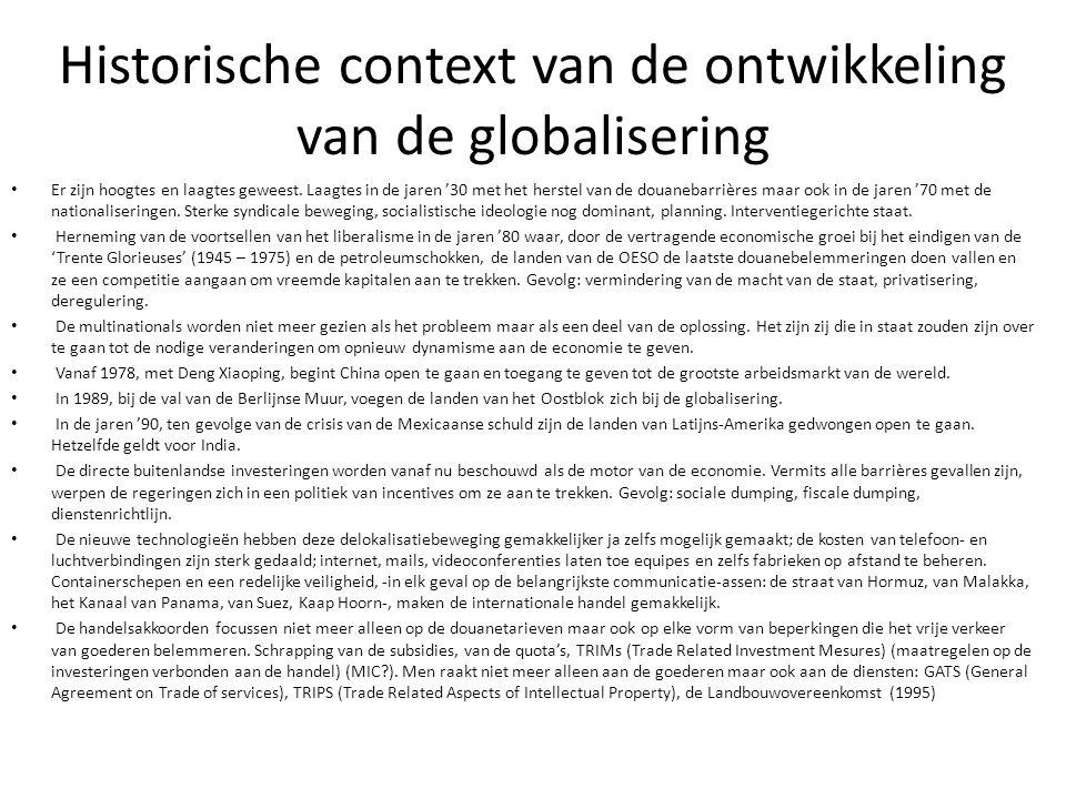 Historische context van de ontwikkeling van de globalisering