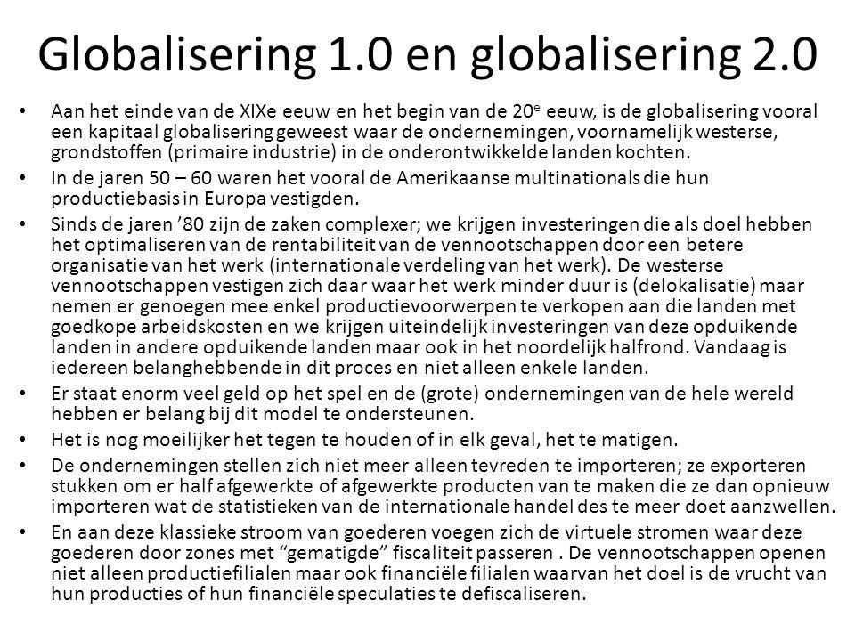 Globalisering 1.0 en globalisering 2.0