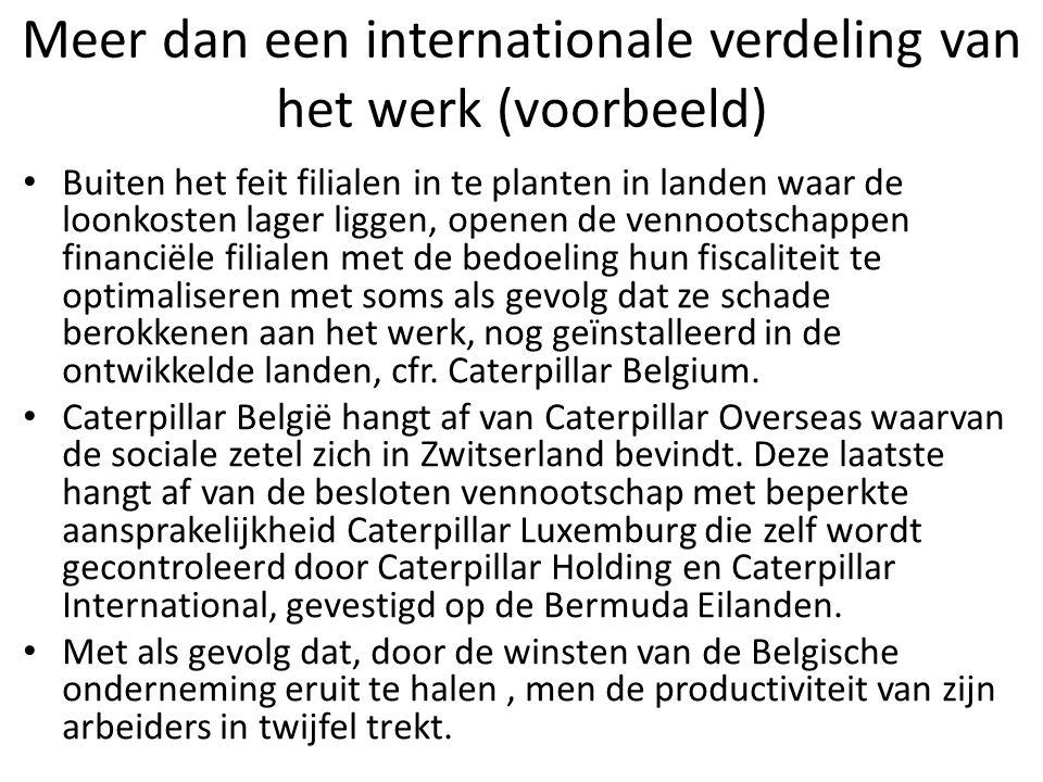 Meer dan een internationale verdeling van het werk (voorbeeld)