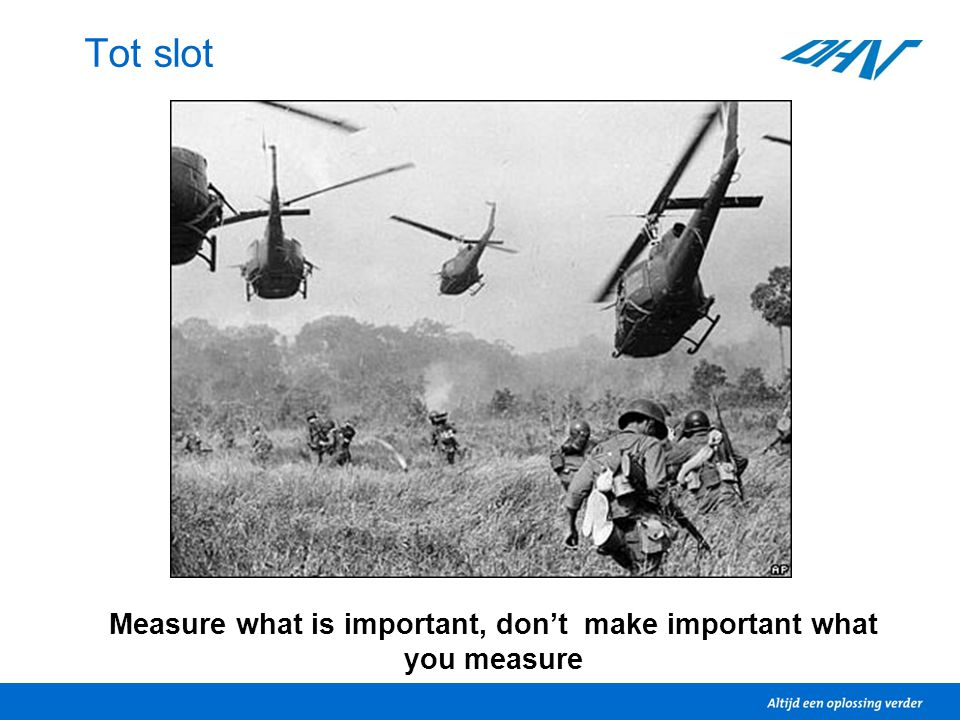 Measure what is important, don't make important what you measure