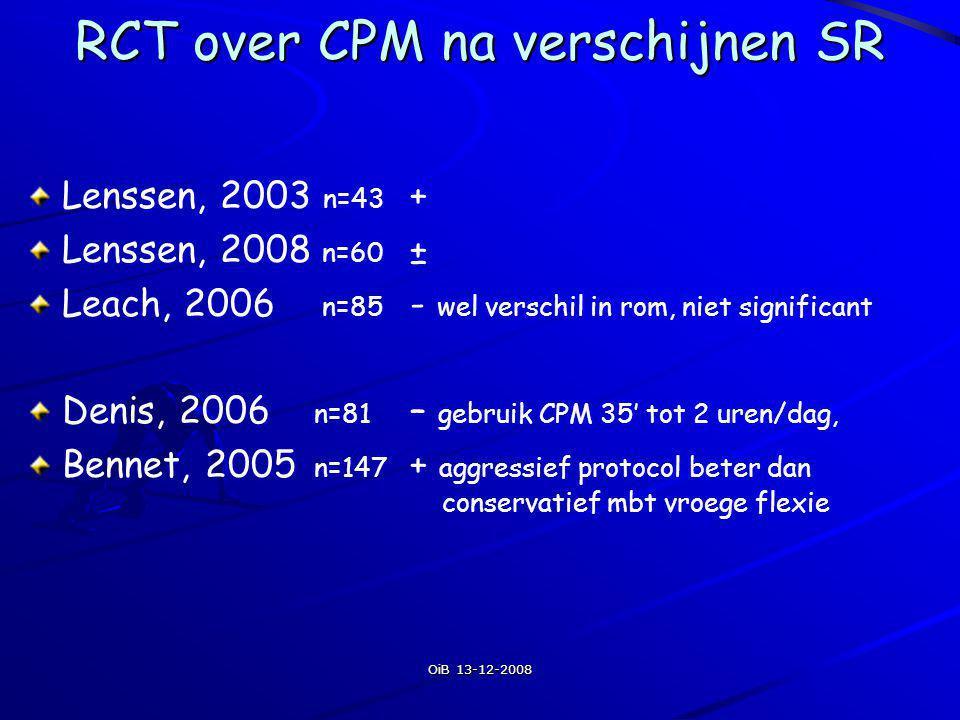 RCT over CPM na verschijnen SR