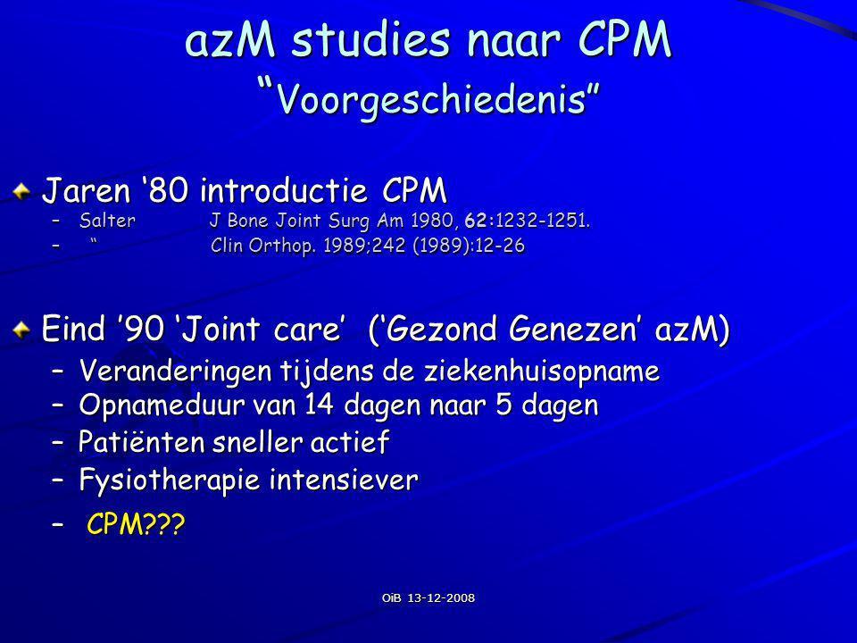 azM studies naar CPM Voorgeschiedenis