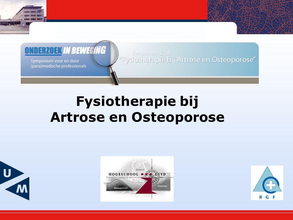 Artrose en Osteoporose
