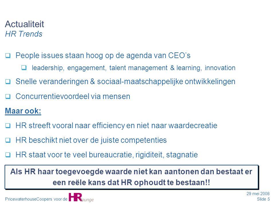 Actualiteit HR Trends People issues staan hoog op de agenda van CEO's