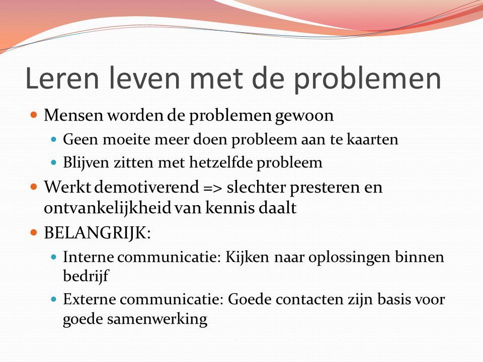 Leren leven met de problemen