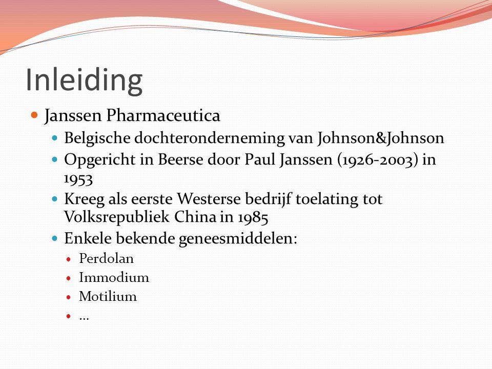 Inleiding Janssen Pharmaceutica